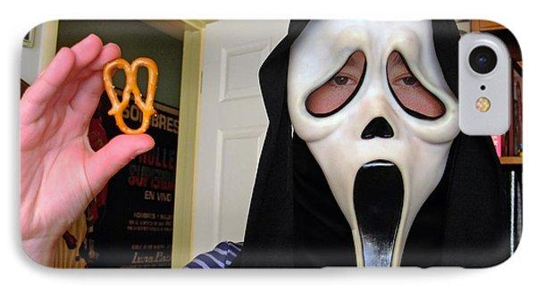 Scream And The Scream Pretzel IPhone Case by Jim Fitzpatrick