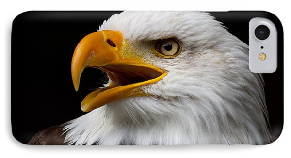 IPhone Case featuring the photograph Screaming Bald Eagle by Nick  Biemans