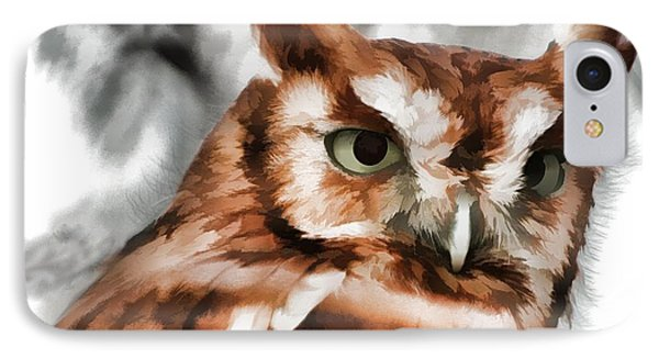 IPhone Case featuring the photograph Screech Owl Photo Art by Constantine Gregory