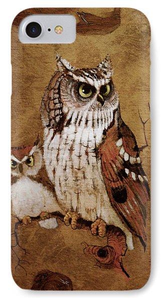 Screech Owls IPhone Case by Richard Hinger