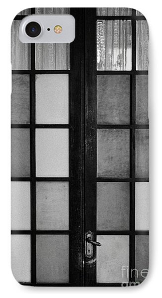 screen door in traditional old house in the barrio paris londres Santiago Chile IPhone Case by Joe Fox