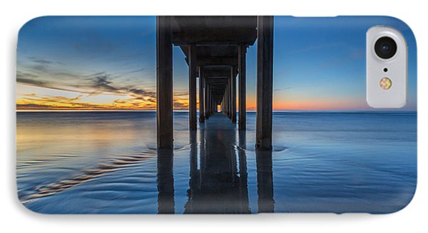 Scripps Pier Blue Hour IPhone Case by Peter Tellone
