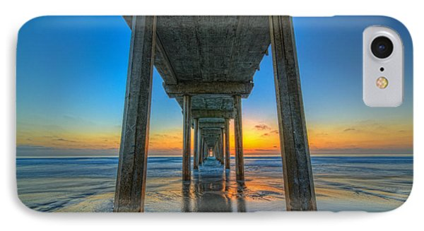 Scripps Pier Sunset IPhone Case by Michael Ver Sprill