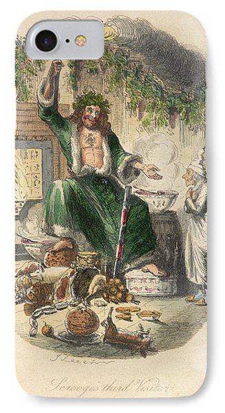 Scrooge's Third Visitor IPhone Case by British Library