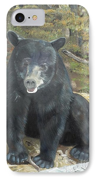 IPhone Case featuring the painting Scruffy Again by Jan Dappen