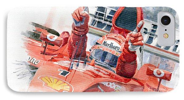 Scuderia Ferrari Marlboro F 2001 Ferrari 050 M Schumacher  IPhone Case by Yuriy  Shevchuk