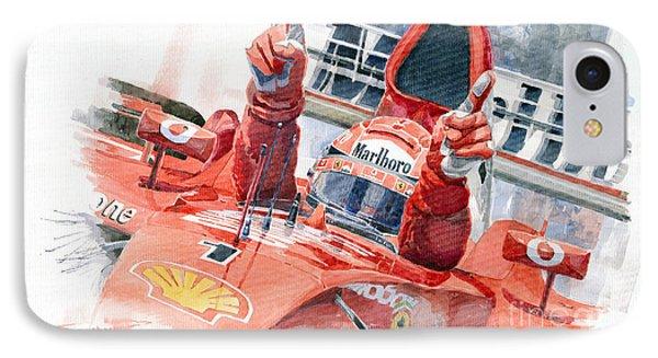 2001 Scuderia Ferrari Marlboro F 2001 Ferrari 050 M Schumacher  IPhone Case by Yuriy  Shevchuk
