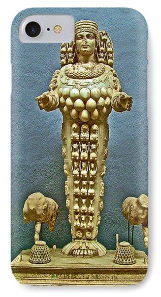 Sculpture Of Artemis-goddess Of Fertility In Ephesus Museum-turkey IPhone Case