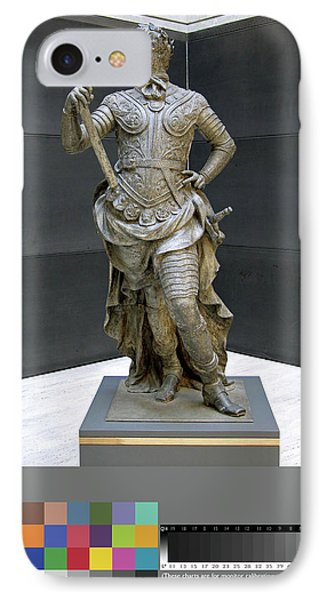 Sculpture, William IIi Inscribed On Rear Of Statue IPhone Case by Litz Collection