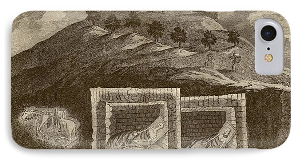 Scythian Burial Mounds IPhone Case by Middle Temple Library