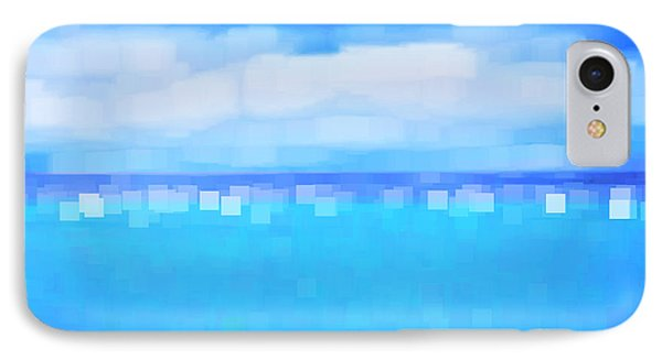 Sea And Sky Abstract Phone Case by Natalie Kinnear