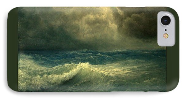 IPhone Case featuring the painting Sea And Sky by Mikhail Savchenko