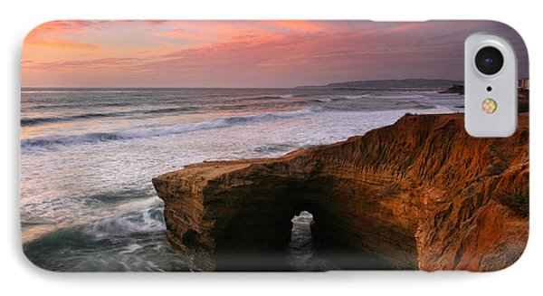 Sea Arch Winter Sunset IPhone Case by Scott Cunningham