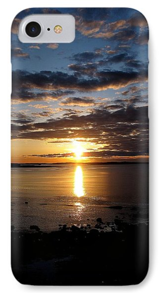 Sea Bank Sunrise IPhone Case by Donnie Freeman