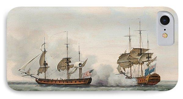 Sea Battle Phone Case by Francis Holman