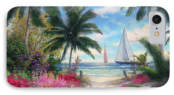 Sea Breeze Trail IPhone Case by Chuck Pinson