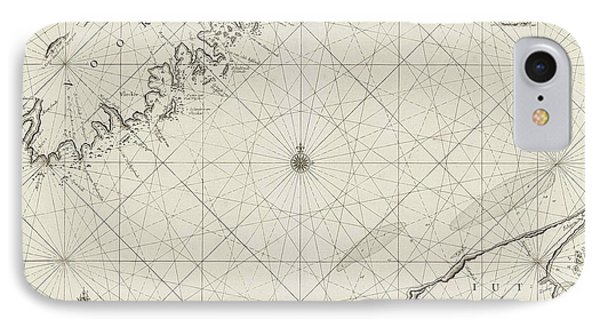 Sea Chart Of Part Of The Coast Of Norway And Jutland IPhone Case