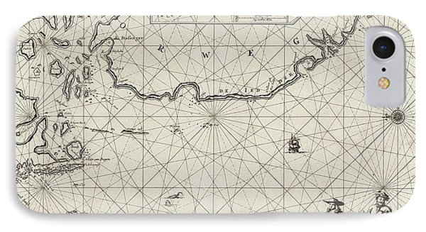Sea Chart Of Part Of The Coast Of Norway IPhone Case