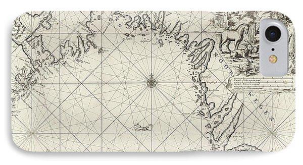 Sea Chart Of The Coast Of Norway, Jan Luyken IPhone Case