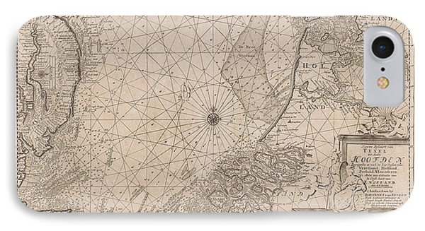 Sea Chart Of The Southern Part Of The North Sea And Part IPhone Case