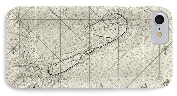 Sea Chart Of The Wadden Sea From Den Helder To Terschelling IPhone Case by Jan Luyken And Johannes Van Keulen (i)