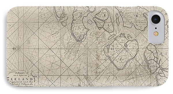 Sea Chart Of The Zeeland Islands And Part Of The North Sea IPhone Case
