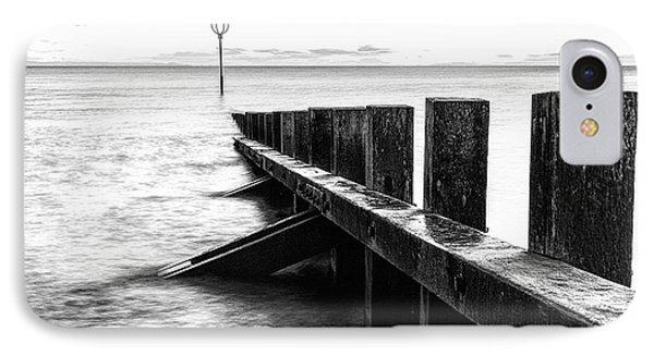 Sea Defences Portobello Phone Case by John Farnan