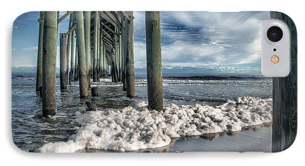 Sea Foam And Pier IPhone Case