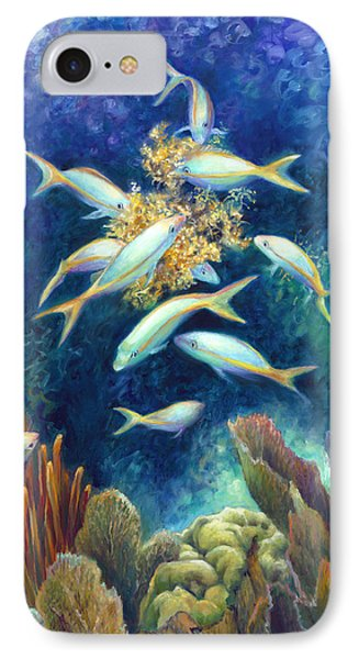 Sea Food Chain - Feeding Frenzy Phone Case by Nancy Tilles