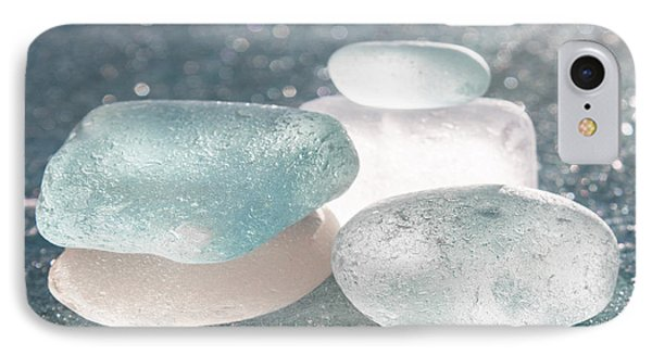 Sea Glass Aqua Shimmer Phone Case by Barbara McMahon