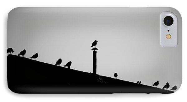 Sea Gulls In Silhouette IPhone Case