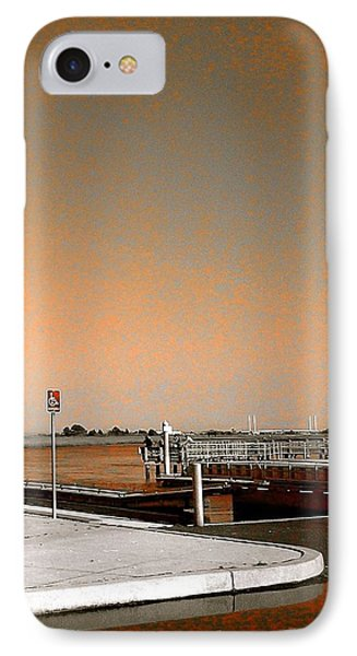 Sea Gulls Watching Over The Wetlands In Orange IPhone Case by Amazing Photographs AKA Christian Wilson