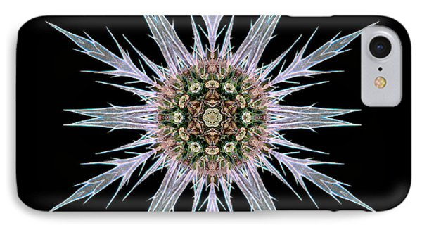 Sea Holly I Flower Mandala IPhone Case