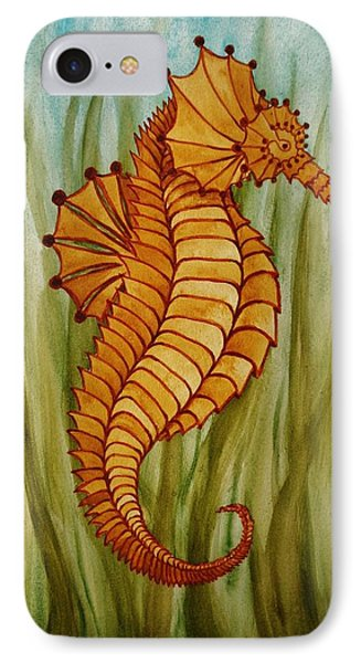 IPhone Case featuring the painting Sea Horse by Katherine Young-Beck