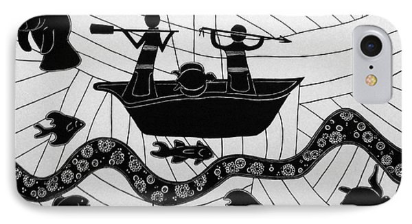 IPhone Case featuring the drawing Sea Hunt by Megan Dirsa-DuBois