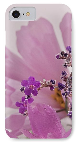 IPhone Case featuring the photograph Sea Lavender Macro  by Sandra Foster