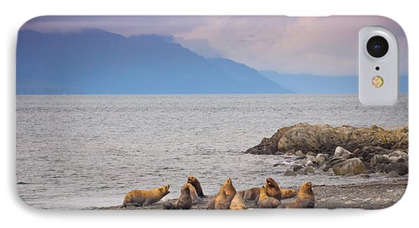 IPhone Case featuring the photograph Sea Lion Bulls by Janis Knight