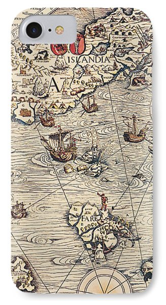 Sea Map By Olaus Magnus IPhone Case by Olaus Magnus