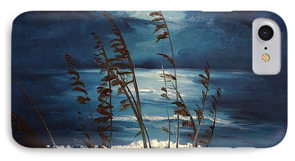 Sea Oats And Moonlight IPhone Case by Alan Lakin