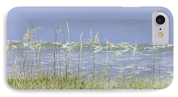 Sea Oats Panorama 1 Phone Case by Karen Stephenson