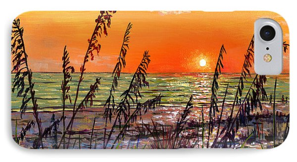 Sea Oats Sunset IPhone Case by Lou Ann Bagnall