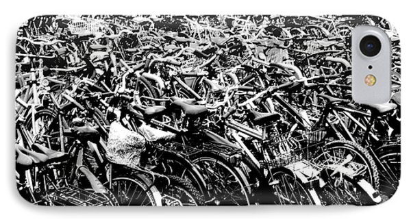 IPhone Case featuring the photograph Sea Of Bicycles 3 by Joey Agbayani