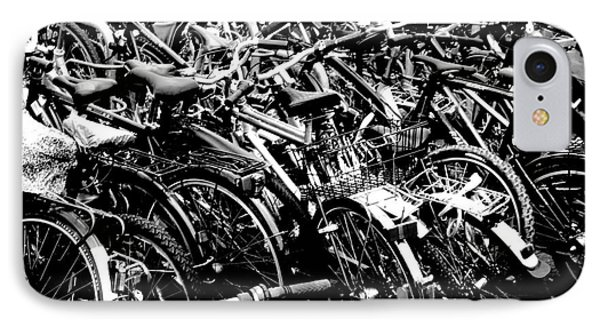 IPhone Case featuring the photograph Sea Of Bicycles 2 by Joey Agbayani