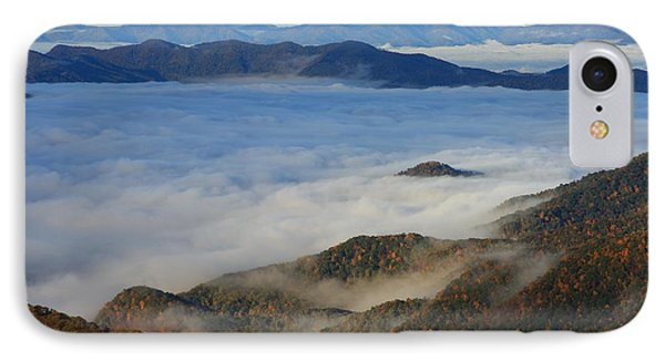 Sea Of Clouds In The Courthouse Valley-blue Ridge Parkway IPhone Case by Mountains to the Sea Photo
