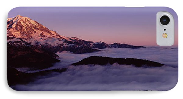 Sea Of Clouds With Mountains IPhone Case by Panoramic Images