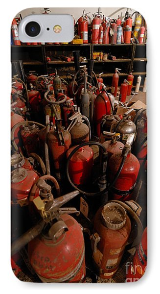 Sea Of Fire Extinguishers Phone Case by Amy Cicconi