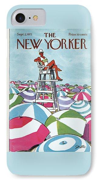 Sea Of Umbrellas IPhone Case