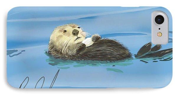 Sea Otter - Drawn On An Ipad IPhone Case