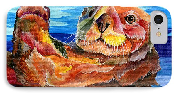 Sea Otter IPhone Case by Sherry Shipley