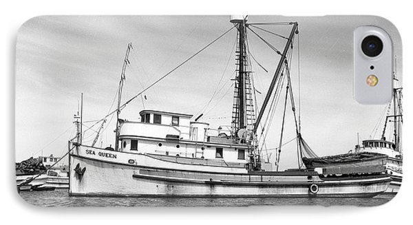 Purse Seiner Sea Queen Monterey Harbor California Fishing Boat Purse Seiner IPhone Case by California Views Mr Pat Hathaway Archives